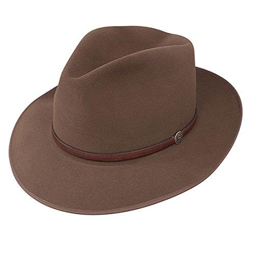 Stetson Roadster Fedora Hat - Walnut - 7 - Stetson Hats Fedora