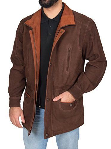 Mens 3/4 Length Leather Coat - 6