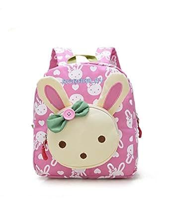 Junboon Children Backpack Baby Toddler Small Rabbit Backpack Schoolbag Shoulder Bags for Kids under 6 years (Pink)