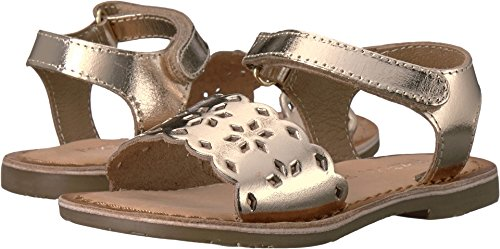 Pazitos Baby Girl's Tic-Tac-Toe (Toddler) Gold Shoe (Toddler Gold Footwear Leather)