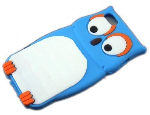 Apple iPhone 55S Chouette Bleu Blue de protection Housse Coque Case en Silicone Cover Etui thematys®