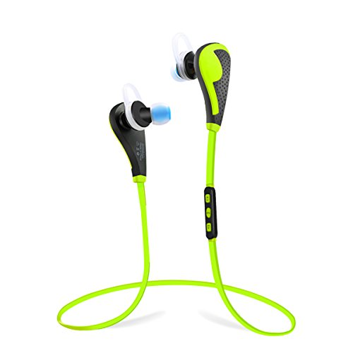 PLAY X STORE Wireless Bluetooth Headphones For Running With Mic (GREEN) by PLAY X STORE