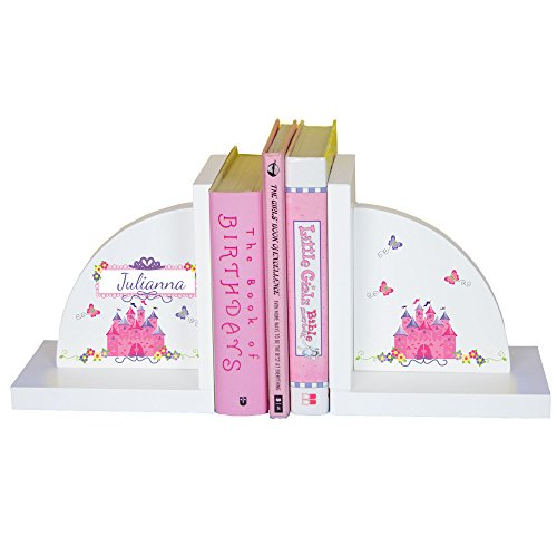 - MyBambino Girl's Personalized Pink Princess Castle Bookends
