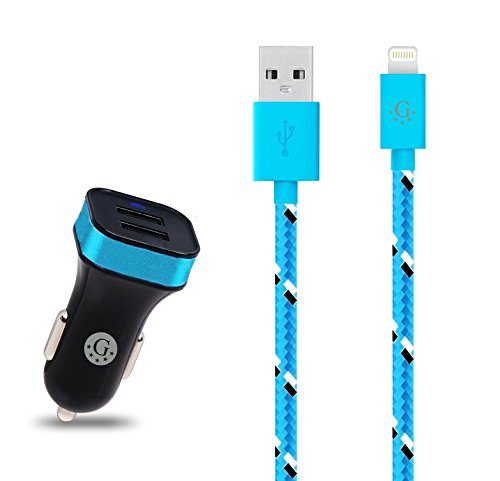 Go Beyond(TM) 3 Feet 8 Pin Fabric Braided Nylon Premium Durable iPhone 5/6 Data Sync / Charging Cable for iPhone 6/6 Plus, iPhone 5/5S/5C , iPad Mini, iPod Touch 5th - Days Usa Business