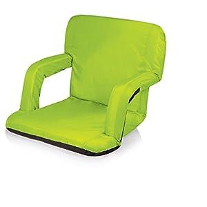 Picnic Time Portable Ventura Reclining Stadium Seat, Lime