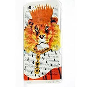 JOE Lion Pattern Polycarbonate Hard Case for iPhone 5/5S