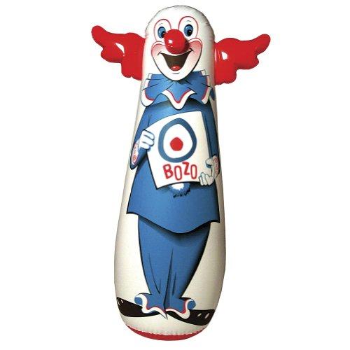 Bozo The Clown Inflatable Bop Bag - Kid's Favorite Soft Boxing (Bozo Nose)