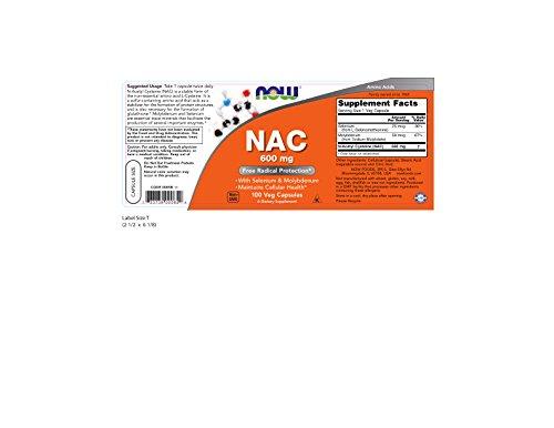 Now NAC 600 mg,100 Veg Capsules