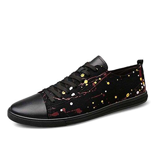 Casuales Moda Zapatos Zapatos Joker Hombres Zapatos Verano Tamaño de Nuevo 40 Gran Color de los de Tamaño Primavera Negro d1OqH4