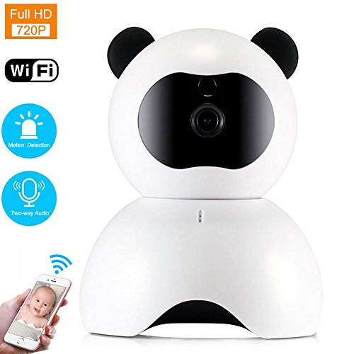 WiFi IP Camera, LEMFO 720P HD Baby Monitor Home Wireless Security Surveillance Network Camera Night Vision Motion Alarm Pan Tilt Zoom (White 720P)