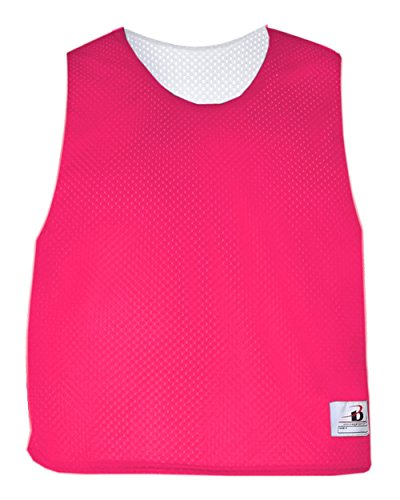 Hot Pink/White Adult S/M Reversible LAX Practice Jersey Pinnies (Lax Pinnies Men)