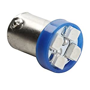 GDW BA9s 5050 SMD 4-bombilla LED de luz azul para el coche (12V DC, juego de 2 piezas)