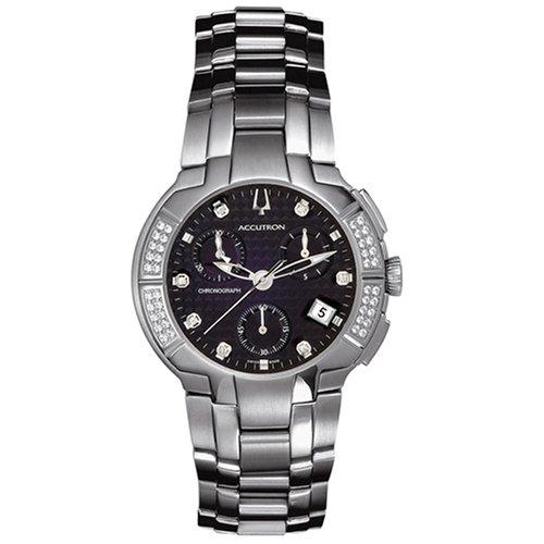 Accutron Men's 26E06 York Chronograph Diamond Watch - Guy Diamond Watches