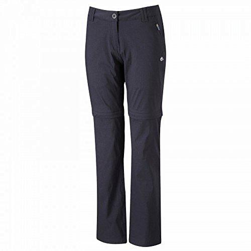 Craghoppers - Pantalones largos convertibles a cortos modelo Kiwi Pro-stretch para mujer Azul oscuro
