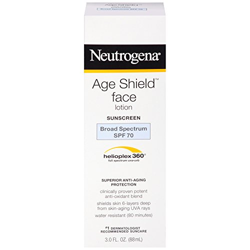 Neutrogena Age Shield Anti-Oxidant Face Lotion Sunscreen with Broad Spectrum SPF 70, Oil-Free & Non-Comedogenic Moisturizing Sunscreen to Prevent Signs of Aging, 3 fl. (Best Oil Free Sunscreen)