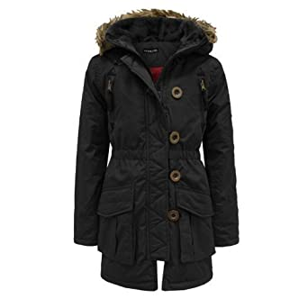 665b36d96 PARADIS COUTURE GIRLS BRAVE SOUL KIDS FUR HOODED PADDED QUILTED ...