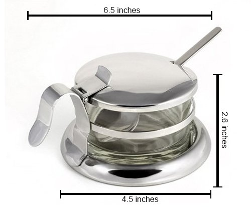 Cuisinox Glass Cheese Bowl or Condiment Server