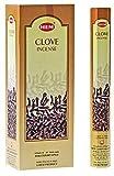 Clove - Hem Incense Sticks 20 Stick Hexagon Box