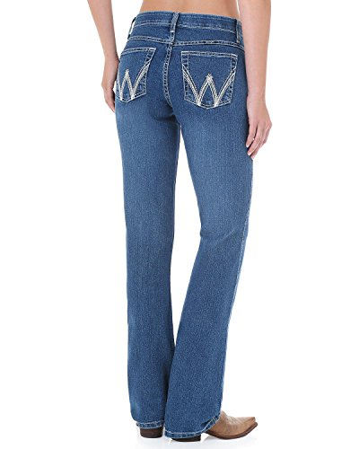 Wrangler Women's Q Cool Vantage Medium Wash Jeans Denim 11W x - Wrangler Riding Jeans