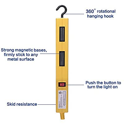 KMC Working Light, Great for Working Inspection/Camping/Car Repair/Household/Indoor or Outdoor- Yellow