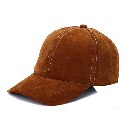 Sandy Ting Vintage Adjustable Suede Leather Hats with Snapback Baseball Cap
