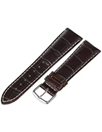 Hadley-Roma Men's MSM834RB-220 22mm Brown Genuine Italian Calfskin Leather WatchStrap