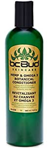 Hemp & Omega 3 Botanical Conditioner, Natural Moisturizing, Repairing Hair Conditioner for Damaged, Dry, Normal, Oily, Thinning and Frizzy Hair, Silicone Free, Sulfate Free (Single)