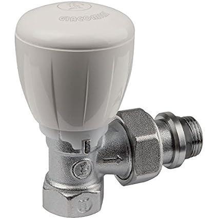 """Giacomini - Grifería gas de radiador - Válvula escuadra R421TG 3/8"""" - :"""