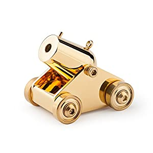 woobud Pocket Artillery Mini Cannon Military Model Miniature Metal Scale Replicas for Boyfriend Men Birthday Christmas Gift ¡ª Golden Classic Collection Version