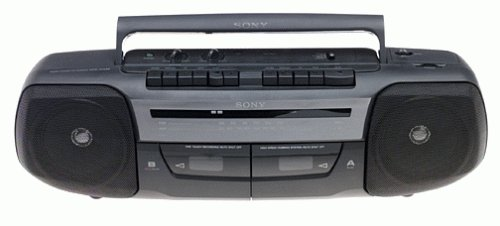 Sony CFS-W338 Stereo Boombox with Dual Cassette Decks and 2-Speed Tape Dubbing by Sony