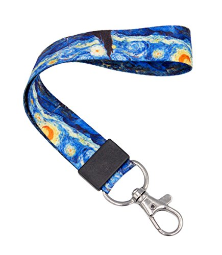 - SENLLY Van Gogh Starry Night Classic Hand Wrist Lanyard Premium Quality Wristlet Strap with Metal Clasp, for Key Chain, Camera, Cell Mobile Phone, Charms, Lightweight Items etc