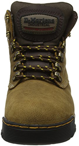 Leather Ridge Tie Unisex Brown Dark Toe Dr Boots Martens Brown 6 Steel Rubber q40f0p