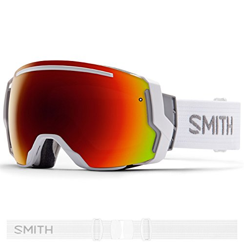 Smith Optics I/O 7 Adult Interchangable Series Snocross Snowmobile Goggles Eyewear - White / Red Sol X Mirror / Medium by Smith Optics