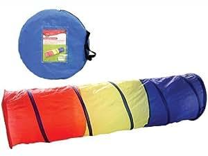 Redwood TN104 - Tubo de tela para juegos infantiles (montaje pop-up, 180cm), color rojo, amarillo y azul
