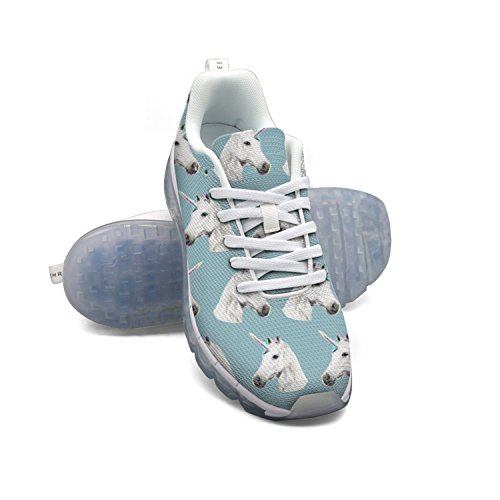 Faaerd Modello Testa Di Unicorno Womens Mesh Traspirante A Cuscino Daria Di Sport In Esecuzione Allaperto Scarpe Leggere Da Tennis Casuali