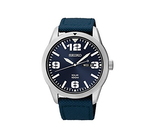 Seiko-Mens-Blue-Dial-Blue-Nylon-Strap-Solar-Watch