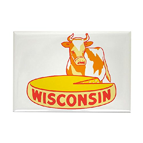 (CafePress Vintage Wisconsin Cheese Rectangle Magnet, 2