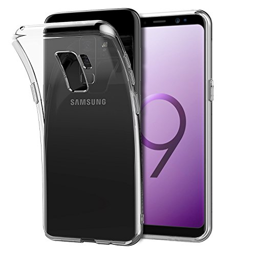 Shamo's for Galaxy S9 Plus Case, S9 Plus Clear Case, [Crystal Clear] Case [Shock Absorption] Cover TPU Rubber Gel [Anti Scratch] Transparent Clear Back Case, Soft Silicone, TPU (Clear)