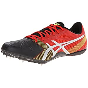 Asics Men's Hypersprint 6 Track And Field Shoe,Red Pepper/Silver/Onyx,12 M US