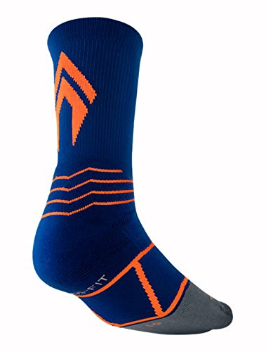 Nike Elite Vapor Men's Baseball Crew Navy/Orange SX4843-418 (Orange Socks And Elite Nike Navy)