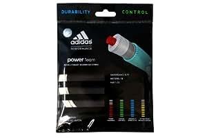 Adidas Badmintonsaite Power Team Set - Raqueta de bádminton ( 0,72 mm ) , color (Weiß), talla Talla única