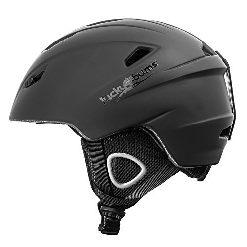 Lucky Bums Powder Series, Snow Sport Helmet, Black, Small - Lucky Bums Snowboard Helmet