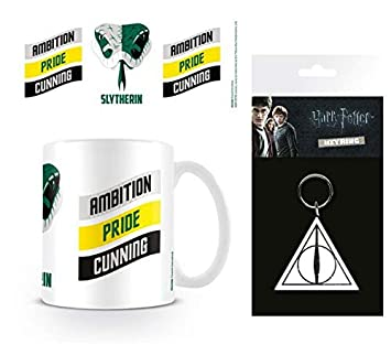 Set: Harry Potter, Slytherin, Orgullo, Ambición, Astucia Taza Foto (9x8 cm) Y 1 Harry Potter, Llavero (15x7 cm): Amazon.es: Hogar