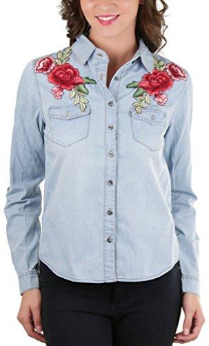 Rose Button Up Shirt - 9