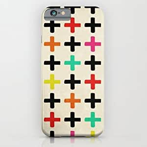 Society6 - Plus Signs iPhone 6 Case by Laura Ruth
