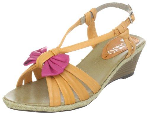 Centro 910404 910404 - Sandalias de vestir de cuero para mujer Naranja (Orange (orange/fuxia 62))