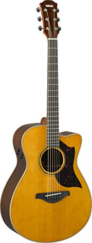 Yamaha 6 String Series AC3R Small Body Cutaway Acoustic-Electric Guitar-Rosewood, Vintage Natural, Concert VN