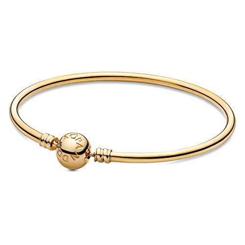 PANDORA Jewelry Moments Bangle Charm Gold 14K Bracelet, 8.3″