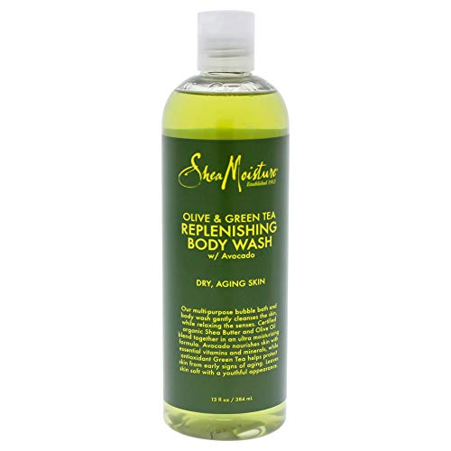 SheaMoisture Olive & Green Tea Body Wash, 13 Ounce