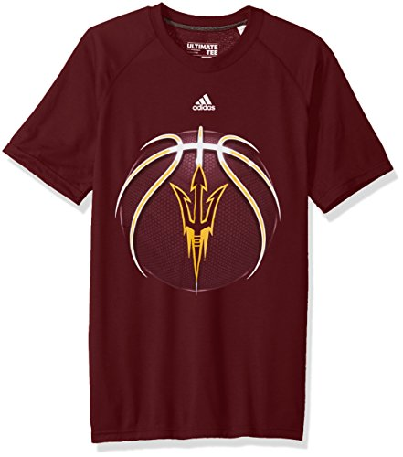 - adidas NCAA Arizona State Sun Devils Mens Light Ball Ultimate S/Teelight Ball Ultimate S/Tee, Maroon, Large